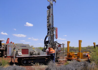 Figure 5 - Sonic core drill rig at the Robe Mesa Deposit, collecting metallurgical drill core to test the physical and chemical characteristics of the iron-ore.